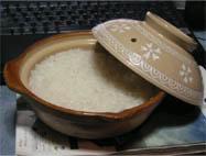 土鍋で米を炊いてみた