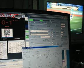 J'sGoalで東京の試合展開を確認しつつテレビで別の試合を見る
